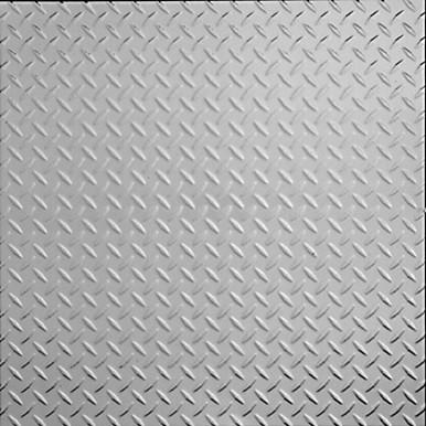 "Diamond Plate - Tin Ceiling Tile - 24""x24"" - #2474"
