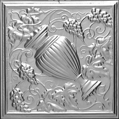 "Grecian Urn - Tin Ceiling Tile - 24""x24"" - #2441"