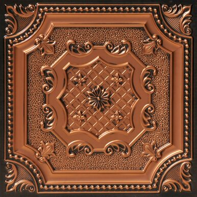 My Beautiful Damaris - Faux Tin Ceiling Tile - 24 in x 24 in - #258