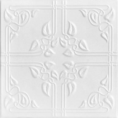 Ivy Leaves Glue-up Styrofoam Ceiling Tile 20 in x 20 in - #R37