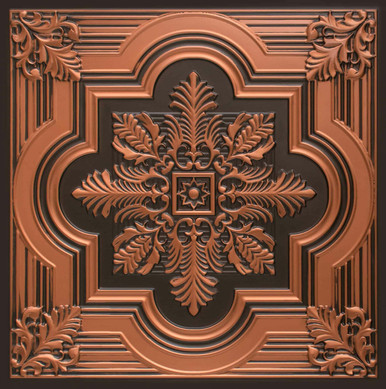 Large Snowflake - Faux Tin Ceiling Tile - 24 in x 24 in - #206