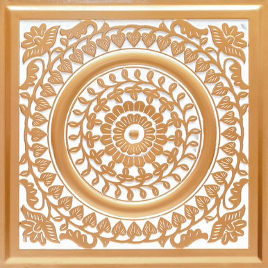 Grandma's Doilies - Faux Tin Ceiling Tile - 24 in x 24 in - #211