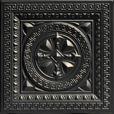Odysseus Shield - Faux Tin Ceiling Tile - 24 in x 24 in - #220