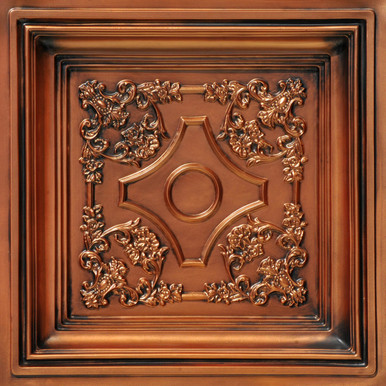 British Sterling  - Faux Tin - Coffered Ceiling Tile - Drop in - 24 in x 24 in - #DCT 03