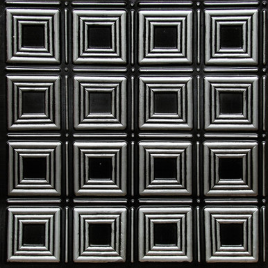 Dimensional Squares - Faux Tin Ceiling Tile - Glue up - 24 in x 24 in - #153