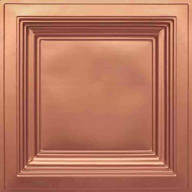 Faux Tin - Coffered Ceiling Tile - Drop In - 24 in x 24 in - #274