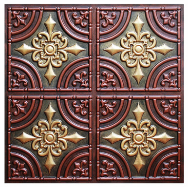 Wrought Iron III - FAD Hand Painted Ceiling Tile - #CTF-008-3