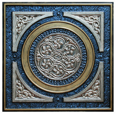 Steampunk V - FAD Hand Painted Ceiling Tile - #CTF-006-5