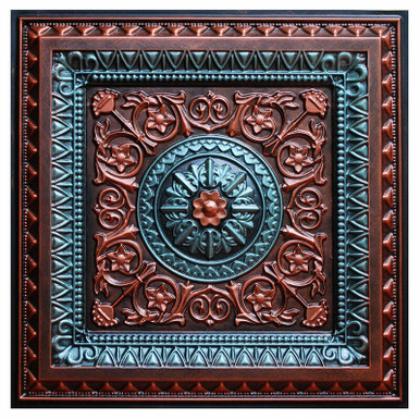 La Scala VII - FAD Hand Painted Ceiling Tile - #CTF-001-7