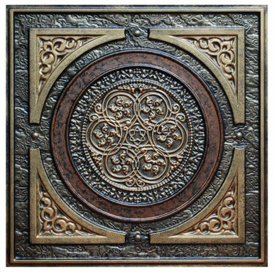 Steampunk III - FAD Hand Painted Ceiling Tile - #CTF-006-3