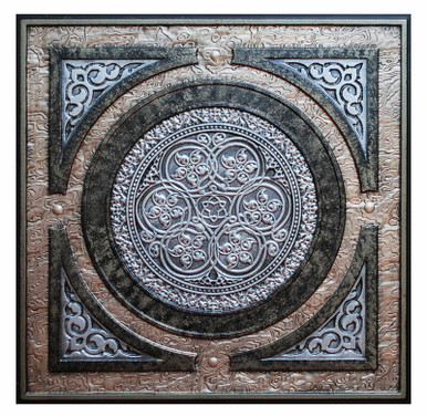 Steampunk II - FAD Hand Painted Ceiling Tile - #CTF-006-2