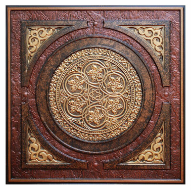 Steampunk - FAD Hand Painted Ceiling Tile - #CTF-006