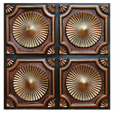 Whirligigs - FAD Hand Painted Ceiling Tile 24 in X 24 in - #CTF-002