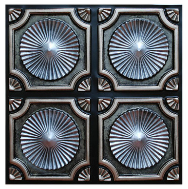 Whirligigs II - FAD Hand Painted Ceiling Tile 24 in X 24 in - #CTF-002-2