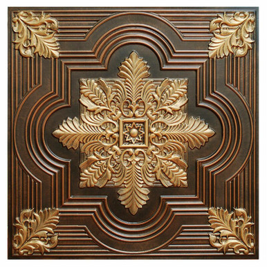 Large Snowflake - FAD Hand Painted Ceiling Tile - #CTF-003