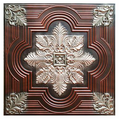 Large Snowflake III - FAD Hand Painted Ceiling Tile - #CTF-003-3