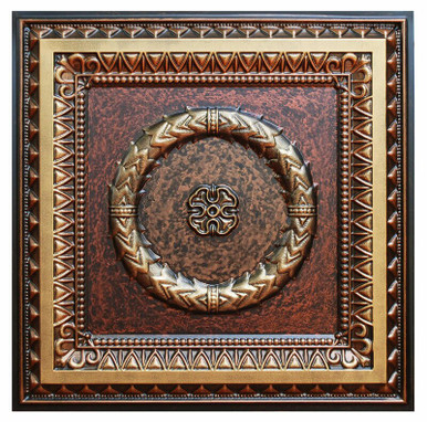 Laurel Wreath - FAD Hand Painted Ceiling Tile - #CTF-004