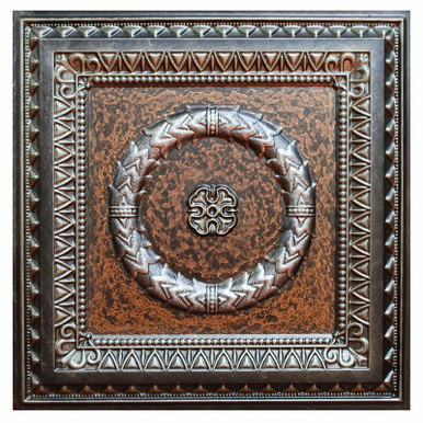 Laurel Wreath II - FAD Hand Painted Ceiling Tile - #CTF-004-2