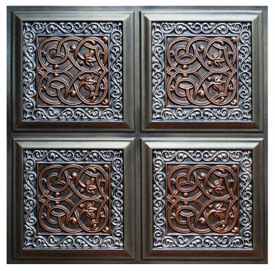 Lover's Knot II - FAD Hand Painted Ceiling Tile - #CTF-005-2
