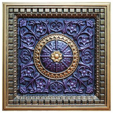Da Vinci III - FAD Hand Painted Ceiling Tile - #CTF-012-3