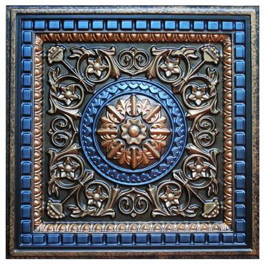 Da Vinci IV - FAD Hand Painted Ceiling Tile - #CTF-012-4