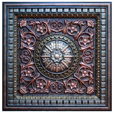 Da Vinci VI - FAD Hand Painted Ceiling Tile - #CTF-012-6