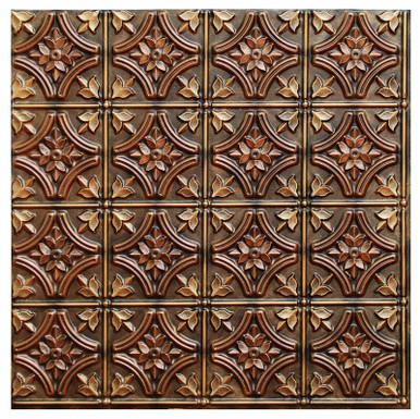 Gothic Reims - FAD Hand Painted Ceiling Tile - #CTF-009