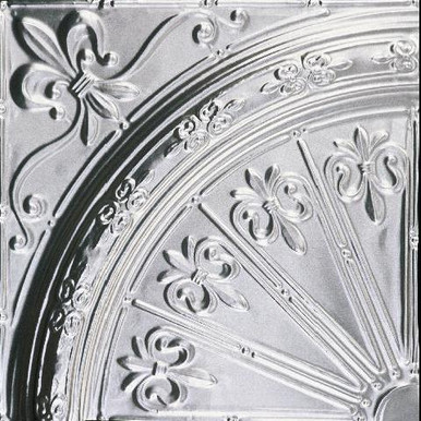 "Fleur de Lis Medallion - Tin Plated Steel - 24""x24"" - Pack of 4 - #2435"