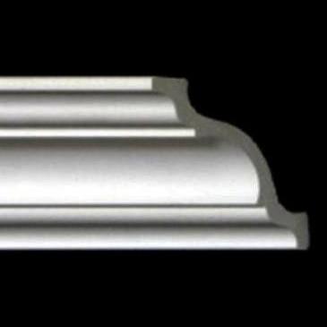Styrofoam Crown Molding - 6 in wide & 8 ft. long - Plain - Pack of 4 - #110 DCT