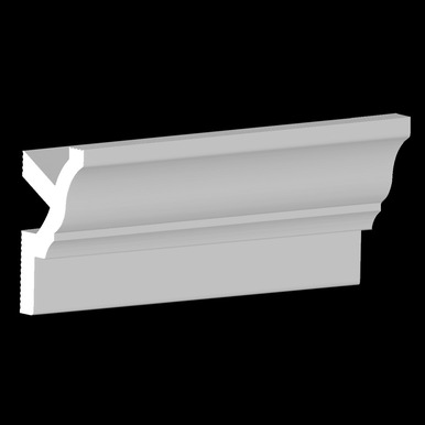 DIY Foam Crown Molding Pack 3.5 in Wide 95.5 in Long (32 ln. ft. / pack) - #CC 351