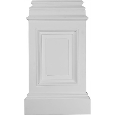 Classic Large Fasade Pedestal Urethane Plinths and Bases Nail up -14-3/8 in x 24-6/8 in x 2 4/8 - Pack of 4