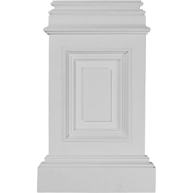 Classic Small Fasade Pedestal Urethane Plinths and Bases Nail up-10-7/8 in x 17-3/4 in x 2-1/4 in- Pack of 4