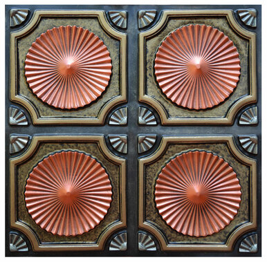 Whirligigs III - FAD Hand Painted Ceiling Tile - #CTF-002-3