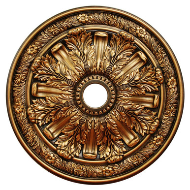 Golden Acanthus - FAD Hand Painted Ceiling Medallion 30 in - #CCMF-036-4
