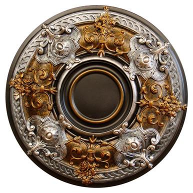 Dark Platinum - FAD Hand Painted Ceiling Medallion - #CCMF-035-A