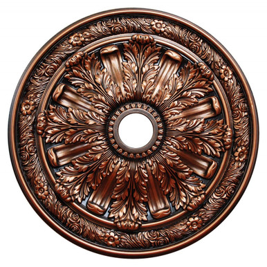 Bronze Acanthus - FAD Hand Painted Ceiling Medallion 30 in  - #CCMF-036-5