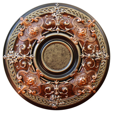 Beauty & Balance - FAD Hand Painted Ceiling Medallion 33 in - #CCMF-035-3A