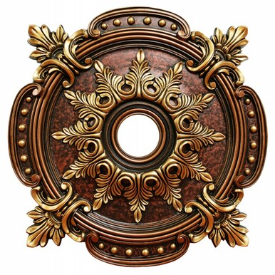 Nature Evenness - FAD Hand Painted Ceiling Medallion 28 in - #CCMF-121