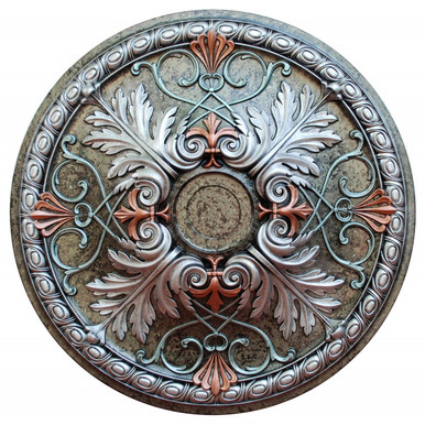 Winter Blossom II - FAD Hand Painted Ceiling Medallion 32 in - #CCMF-112-4