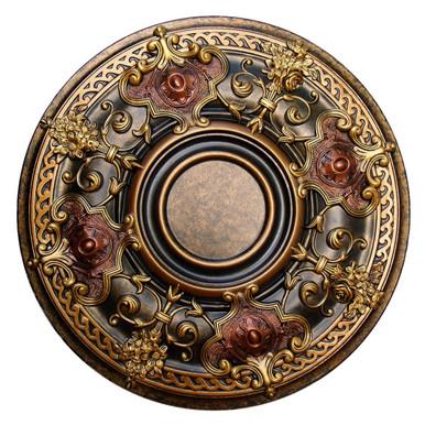 Shady Impression - FAD Hand Painted Ceiling Medallion - #CCMF-035-2A