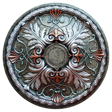 Winter Blossom II - FAD Hand Painted Ceiling Medallion - #CCMF-112-4A
