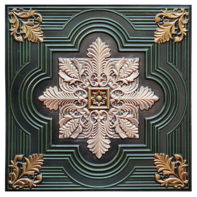 Large Snowflake IV - FAD Hand Painted Ceiling Tile - #CTF-003-4