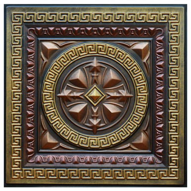 Odysseus Shield - FAD Hand Painted Ceiling Tile - #CTF-014