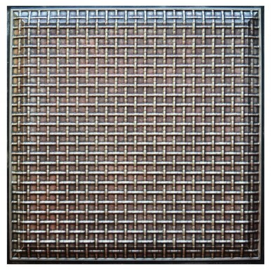 Rustic Lattice II - FAD Hand Painted Ceiling Tile - #CTF-017-2