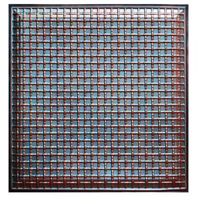 Rustic Lattice - FAD Hand Painted Ceiling Tile - #CTF-017