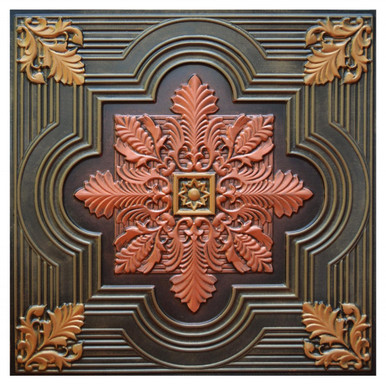 Large Snowflake VI - FAD Hand Painted Ceiling Tile - #CTF-003-6
