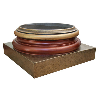 FAD Faux Marble Finish Column Base - #CPBF-AT-OGACB