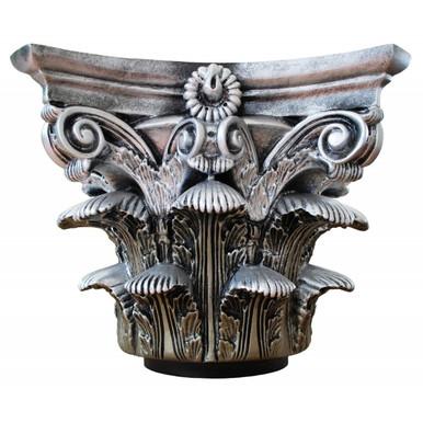 Roman Corinthian - FAD Faux Marble Finish Column Capital - #CPCF-RC-SI