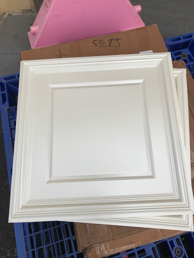 Lot 307 - #224 (232sq ft) 58pcs White Pearl / drop-in / glue-up