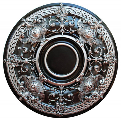 Night Flashes - FAD Hand Painted Ceiling Medallion 28 in - #CCMF-035-4